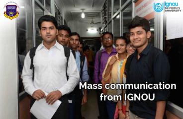 Mass Communication from IGNOU
